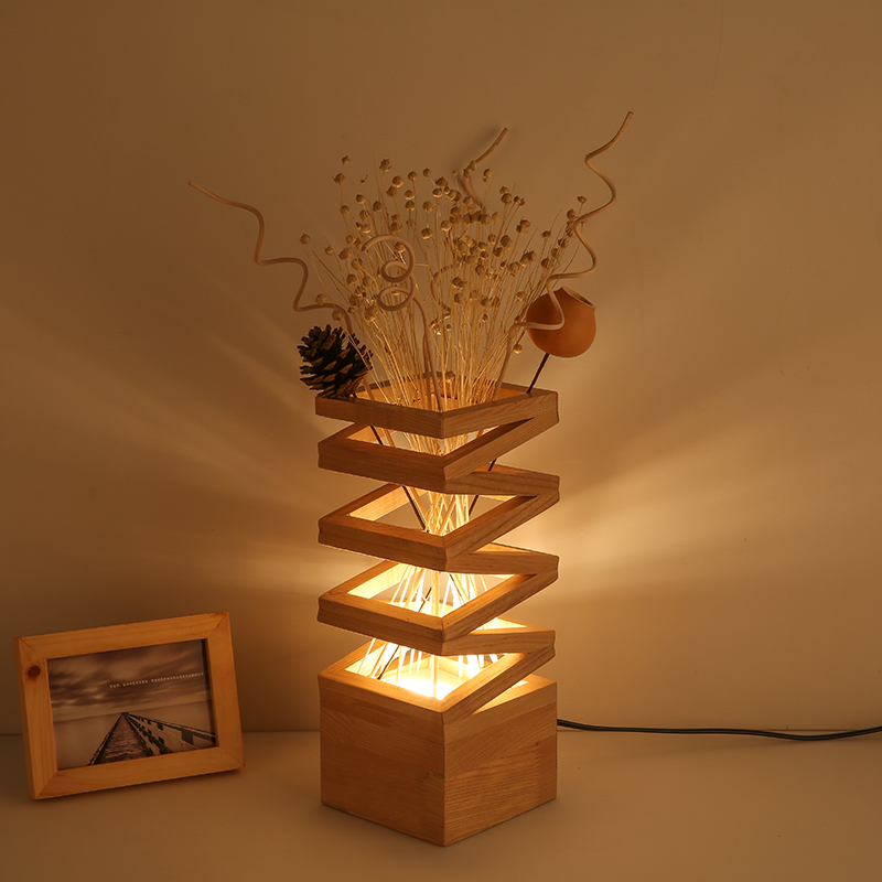 Wood Read Table Lamp Vintage Solid Wood Lamp Study Living - Luminaria Led Madeira