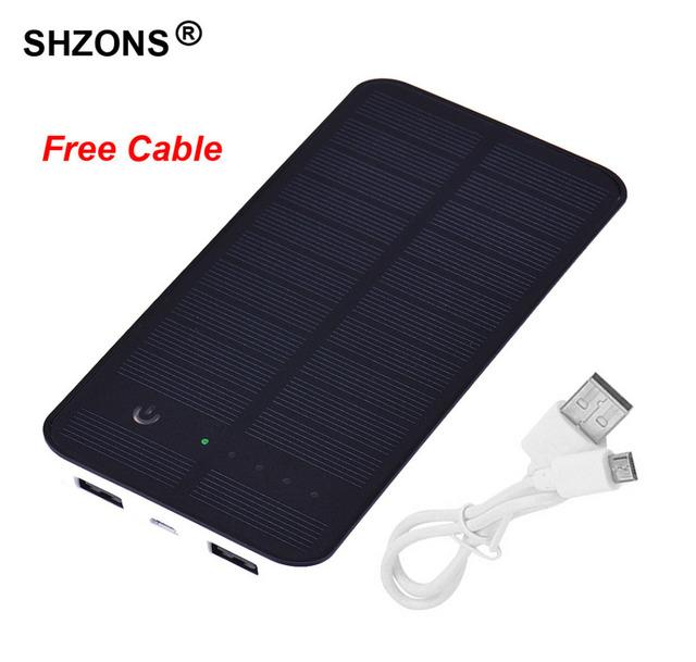 10000 mah cargador externo de la energía bank powerbank solar a prueba de agua para iphone 5s 6 6 s 7 plus para samsung s6 s7 para todos los móviles teléfono
