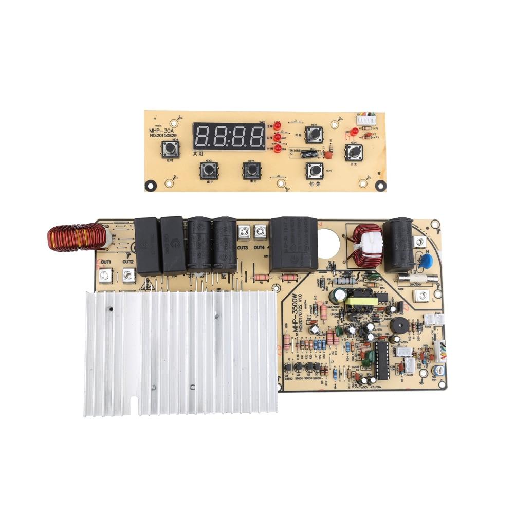 3500 w 220 v Placa de Circuito PCB com o Painel de Controle De Aquecimento para o Fogão De Indução Da Bobina Eletromagnética