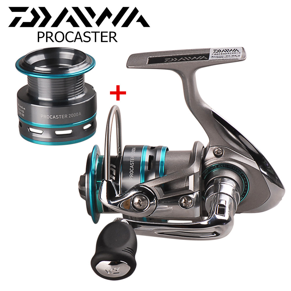 DAIWA PROCASTER Spinning Fishing Reel with Spare Spool 2000/2500/3000/3500/4000 Carp Fishing Reel Pesca Carretilha Lure Reel sayoyo brand genuine cow leather baby moccasins snail toddler infant footwear soft soled baby boy shoes pre walker free shipping