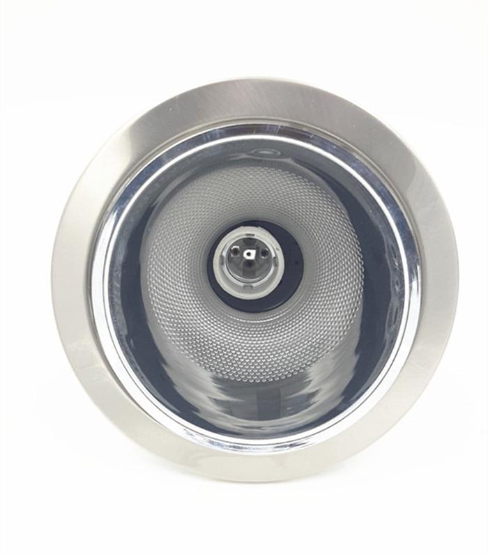 """DOPRAVA ZDARMA-E27 5,5 """"vedená sestava světlometu, svítidlo pro žárovku, zapuštěné stropní světlo, kartáčovaný chrom, vyměňte lampu CFL"""