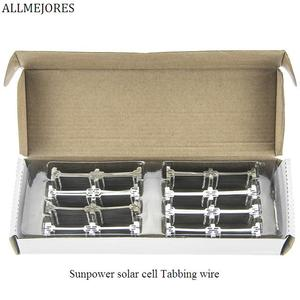 Image 2 - ALLMEJORES 30pcs  solar cell Tabbing wire Connector Dog Bone Tab wire Solder strip DIY Thin film Flexible Solar panel