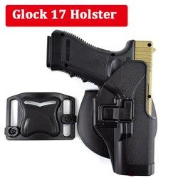 Tático Glock 17 19 22 23 31 32 Airsoft Coldre de Cinto de Pistola Glock Pistol Caça Arma Acessórios Caso para a Esquerda/ a Mão direita