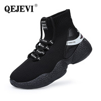 Wholesale Dropship Winter Men Sports Shoes High Top Black Cheap Running Shoes Breathable Mesh Outdoor Sport Running Shoes Men