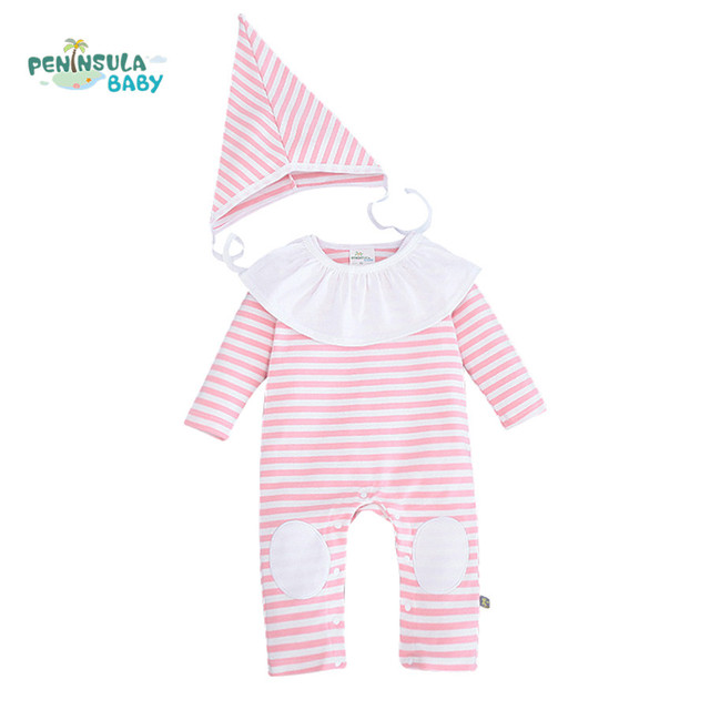 cdf1cf1df Baby Romper Long Sleeve Striped Bebek Giyim Newborn Baby Roupas ...