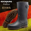 Personality 2015 New Fashion Antiskid Wear Thread Wading Buckle Strap Belt Rainboots Mens Rubber Rain Boots Sequined Waterproof