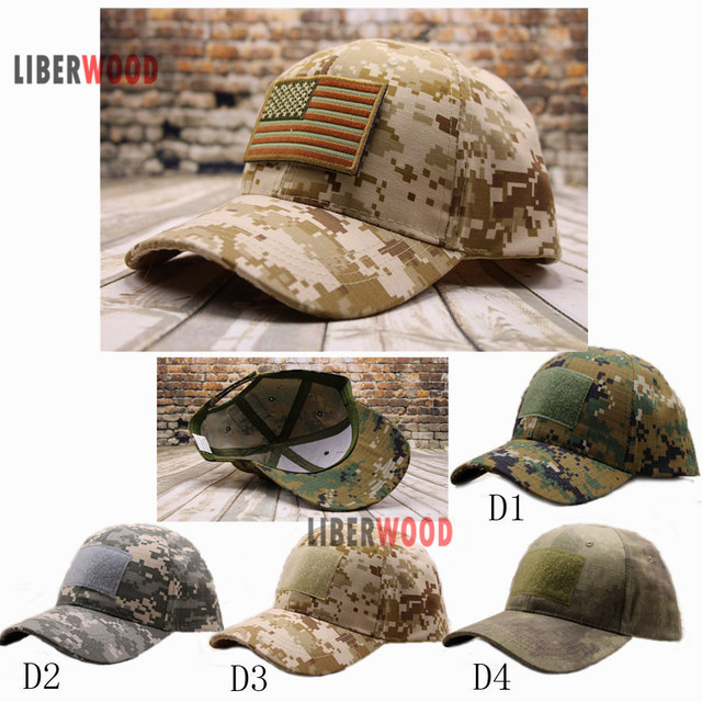 Special Force Low Profile Tactical Adjustable Desert Operator CAP Operators Tactical  Cap US Flag PATCH Hat Digital Camo d21371537ef
