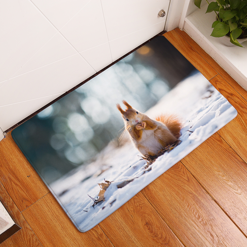2017 New Small Animals Print Carpets Non Slip Kitchen Rugs