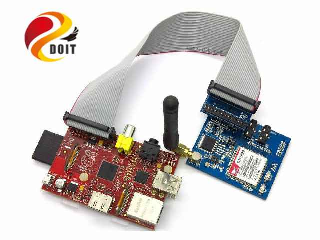 DOIT Tieline Connection Raspberries Pie PI RPI GSMGPRS Sim900 Module Suite Ribbon Cable Line PCduino Robot Chassis Car