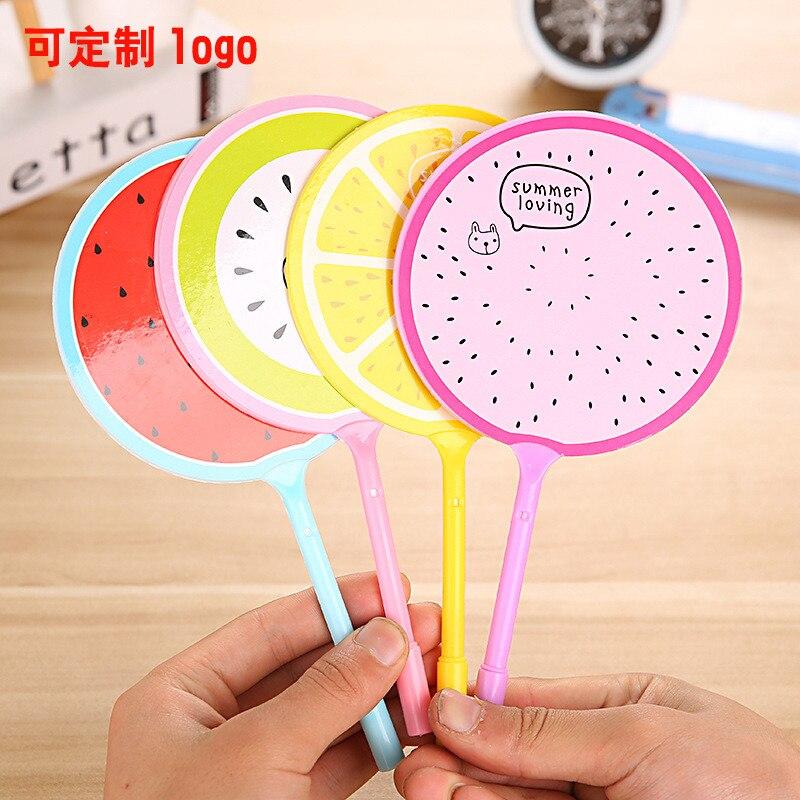 3Pcs Creative Korean Fruit Fan Ballpoint Pen Cute Kawaii Kids Stationery Store Escritorio Rollerball School Tool Thing Item Shop