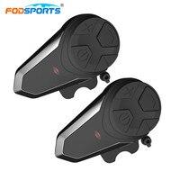 2pcs BT S3 Helmet Headsets Motorcycle Intercom Wireless Bluetooth Interphone Handsfree Waterproof FM Radio 5 Languages