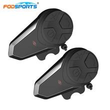 2pcs BT-S3 Helmet Headsets Motorcycle Intercom Wireless Bluetooth Interphone Handsfree Waterproof FM Radio 5 languages Manual
