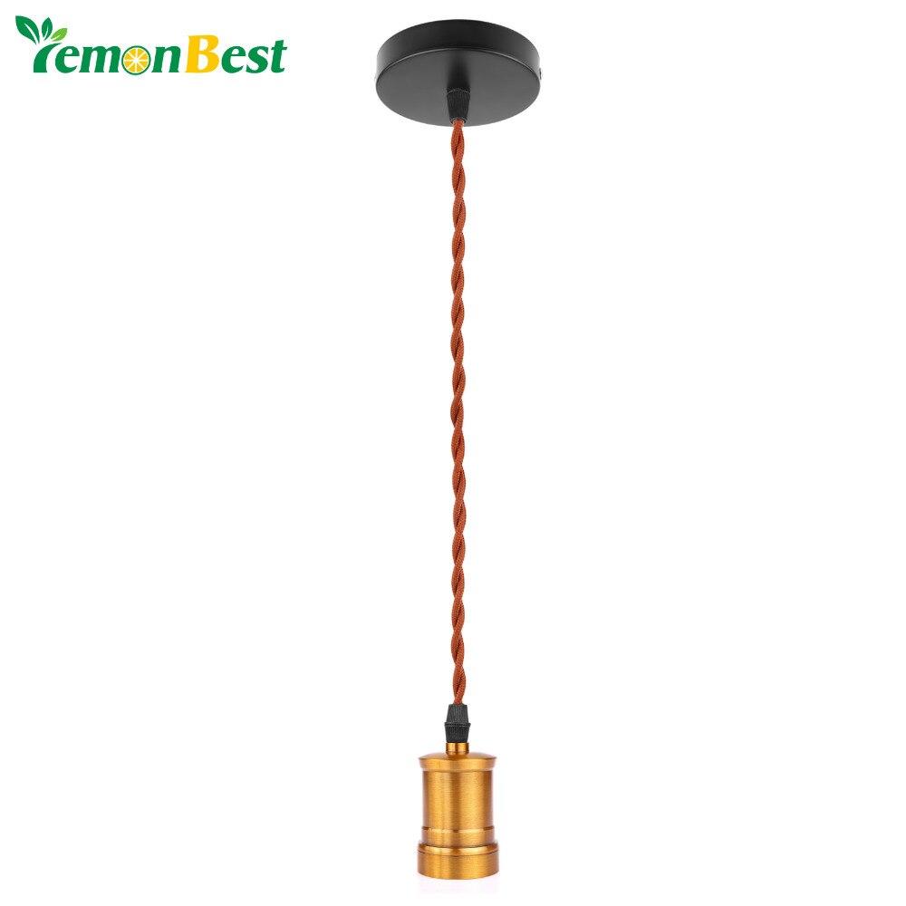 Lamparas Vintage Loft Hanfseil Kupfer Anhänger Lampe Edison ...