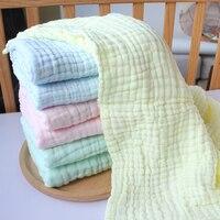 Pure Color Baby Washing Gauze Bath Towel Autumn Newborn Quilt Baby Shower Towel Super Soft Care