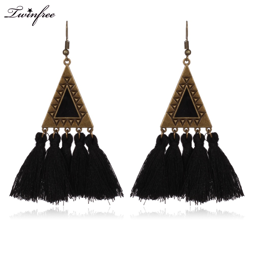 Vintage big fan fringe earrings pink black red blue brush tassel vintage big fan fringe earrings pink black red blue brush tassel earrings drops big large chandelier brincos fashion hy 7015 1 in drop earrings from jewelry arubaitofo Images