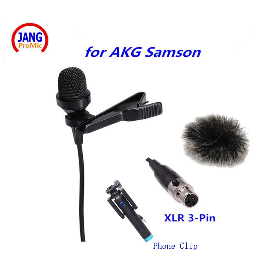 Top Klopě Kondenzátorový Mikrofon Kondenzátor pro AKG Samson Bezdrátový Vysílač Mikrofon Systém Mini XLR 3Pin  t
