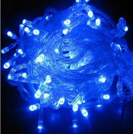 6pcs/lot, Blue Green 100 LED String Light 10M 220V/110V Holiday Decoration Light for Christmas Wedding Free Shipping