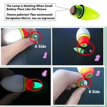 Sougayilang 5pcs/lot Fishing Float Angling Equipment Light Bobber Fish Floats 10cm Boia Luminosa for Carp Fishing Accessories