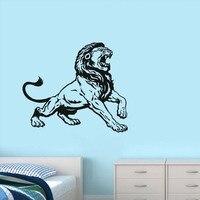 ג 'ונגל מלך אריות בסלון קישוט נשלף קיר האמנות ויניל בית תפאורה מדבקה אפריקה בעלי החיים מדבקות קיר מדבקות