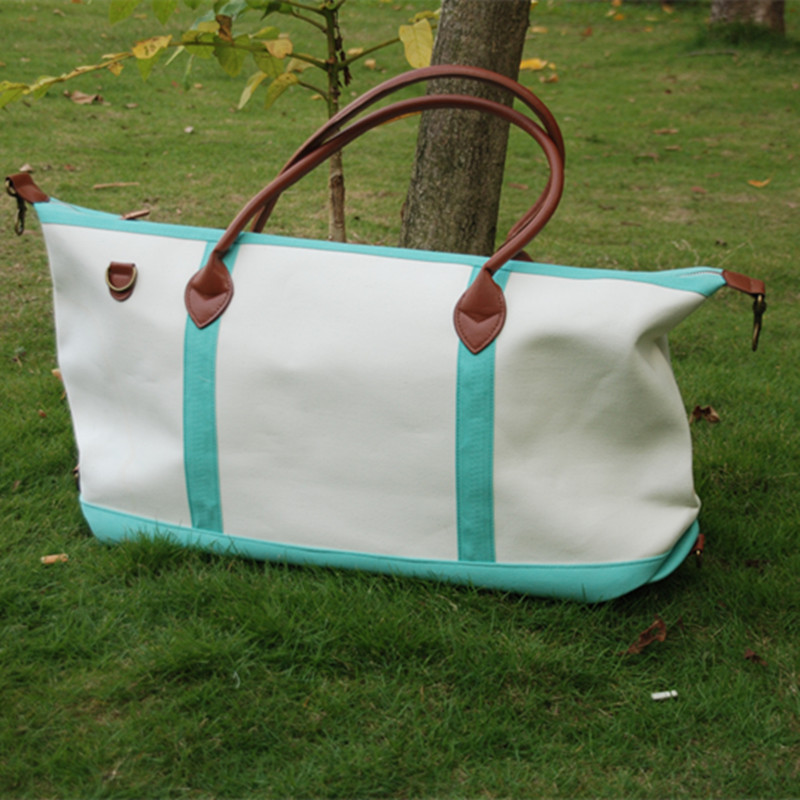 Free Shipping Canvas Tote ,Ready In Stock Large Canvas Duffle Bags Accessory Organizer Weekend Bag DOM 1010148B