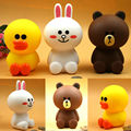 Hot Lovley Line Friend Brown Bear Cony Rabbit Cartoon piggy bank coin bank figure toys saving bank