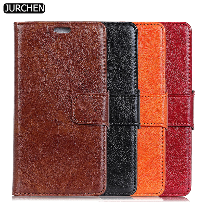 JURCHEN Luxury Back Case For Xiaomi Redmi 5 Plus Case Silicone Wallet Leather Flip Cover For Xiaomi Redmi 5 Plus Cover Case