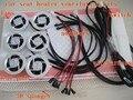 Asiento de coche de calor y ventilación kits con fibra de carbono almohadillas de calor y 6 especiales de ventiladores para ventilación