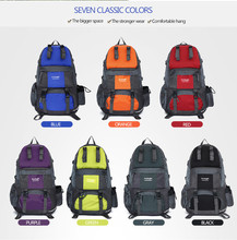 7 colors Free Knight Waterproof Nylon Large Capacity Outdoor Sports Travel Camping Hiking Rucksack Climbing Light Weight Bag