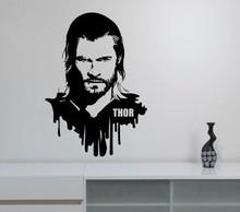 Thor Vinyl Wall Decal Removable Sticker Marvel Superhero Home Art Decoration Kids Boys Room Bedroom Playroom Windows Decor WW-72 недорго, оригинальная цена