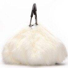 Сумка через плечо Осень Зима Теплые сумки для женщин Брендовые женские сумки на плечо из искусственного меха большая вместительность Bolsa Feminina