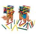 Детские Игрушки Слон Верблюд Балансировка Деревянная Игрушка для детей jenga Монтессори игрушки дети Головоломки игрушки развивающие Подарки CU45