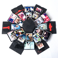 DIY Explosion Gift Box Storage Box Birthday Valentine's Gift Handmade Photo Album Gift with DIY Accessories Kit Boom Gift Box