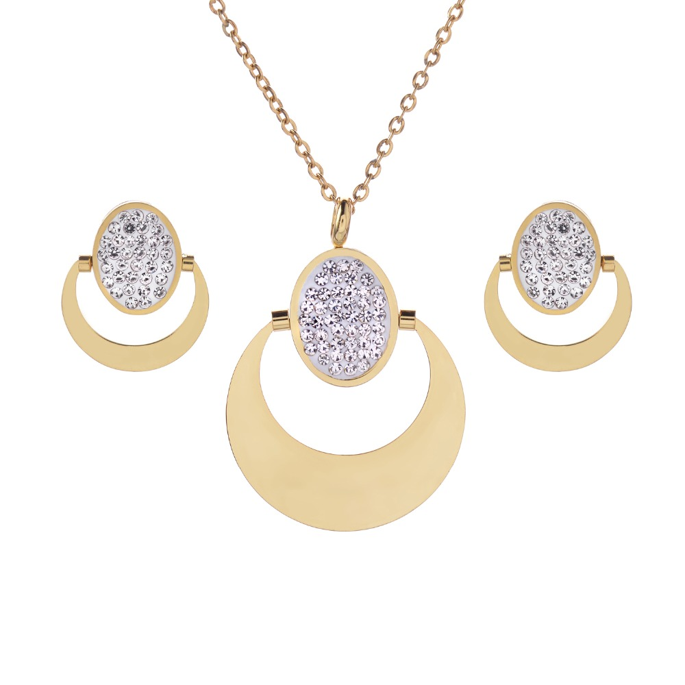 Gold Color Crystal Jewelry...