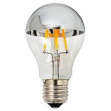 Половина серебрение Светоотражающие тени для век, 4 Вт, 6 Вт, A60 G95 светодиодный Лампа накаливания с зеркалом E27 Энергосберегающие теплый белый свет бестеневая лампа