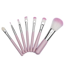 7pcs/set Professional Soft Cosmetics Pink Makeup Brushes Tool Powder Eyeshadow Set