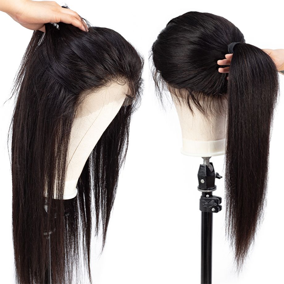 Brazilian Straight Lace Front Wig With Baby Hair 13x4 Lace Front Human Hair Wigs Pre Plucked