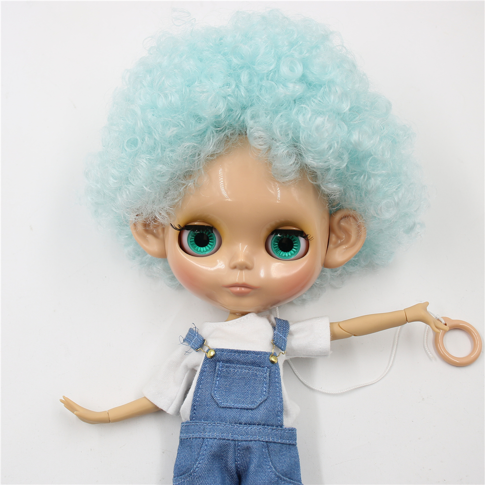 ICY Fortune Days factory blyth doll 1 6 bjd tan skin joint body Afor hair blue
