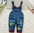 2016 nova chegada de jeans infantil calça jeans bebê dos desenhos animados do projeto da estrela