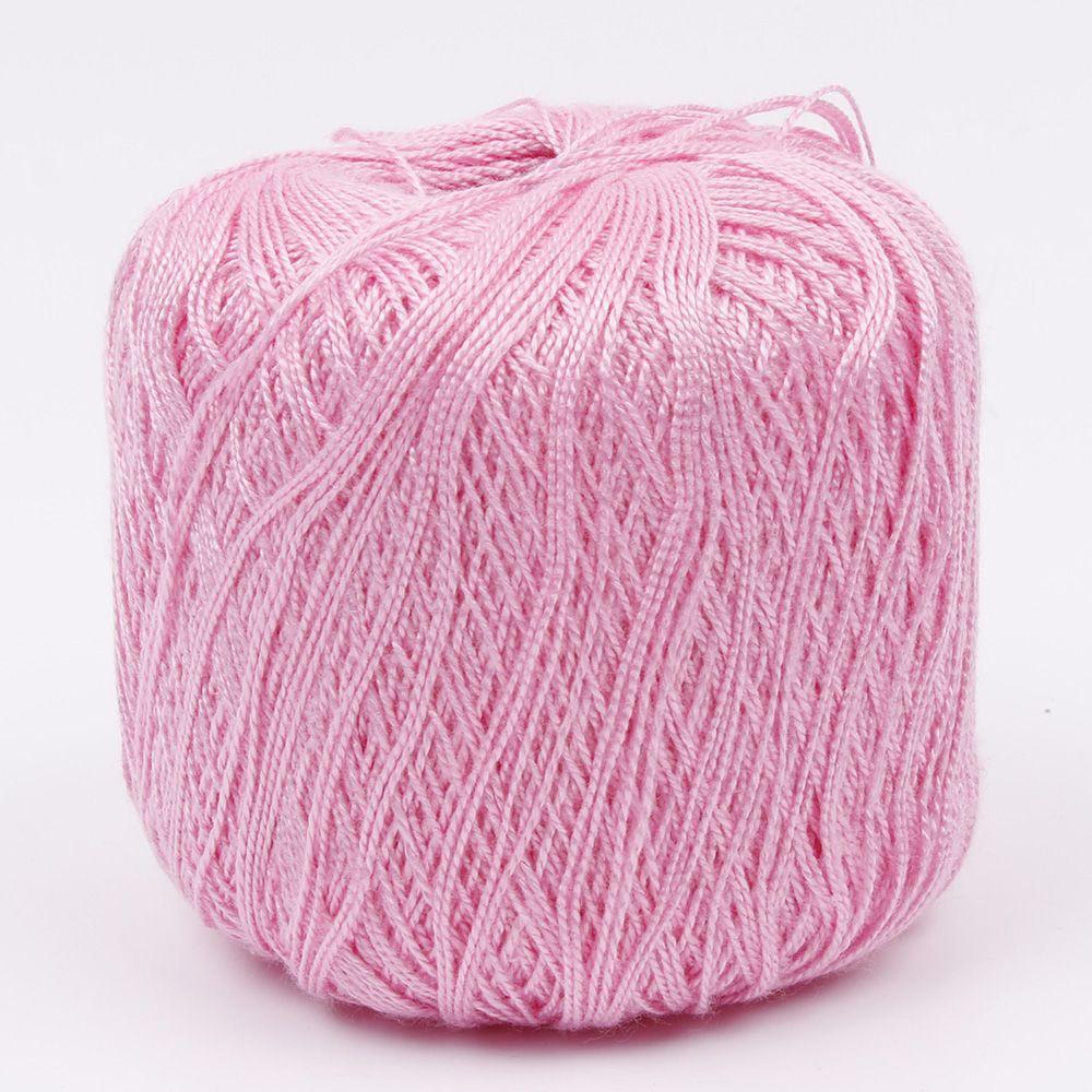 1 шт. DIY мерсеризованный хлопок шнур нить ПРЯЖА для вышивки крючком вязание кружева Ювелирные Изделия швейные инструменты аксессуары - Цвет: Розовый