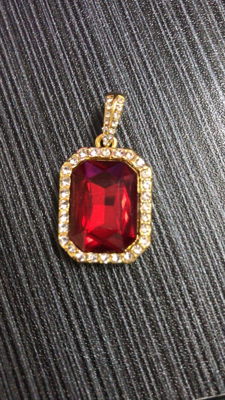 Hip Hop Χρυσό χρώμα Iced Out Rhinestone τετράγωνο - Κοσμήματα μόδας - Φωτογραφία 6