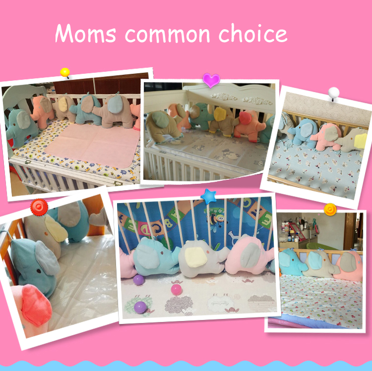 7cad971414a8 Infant crib bumper bed protector baby kids cot nursery bedding 6 pc ...
