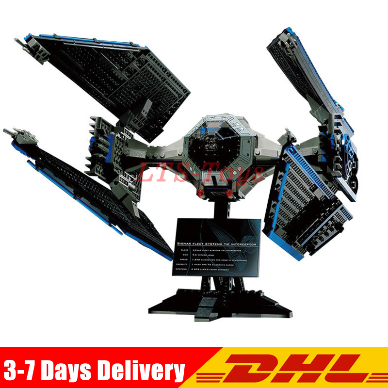 IN STOCK LEPIN 05044 703Pcs Star War UCS TIE Interceptor Model Building Kit Set Block Brick Compatible Children Toy 7181 конструктор lepin star plan истребитель tie interceptor 703 дет 05044
