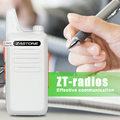 Zastone X6 White UHF 400-470MHZ Mini portable 16 channels Slim handheld Portable walkie talkie cb radio