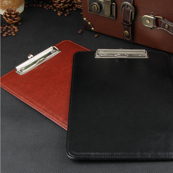 high quality wholesale  black / wine red  A4 (215*310mm)  business pu leather clipboard high quality wholesale