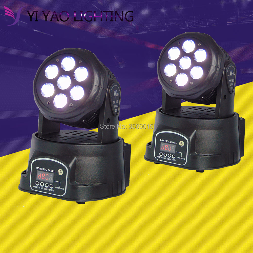 2pcs/lot Moving Head Light 7x12W Stage Light RGBW LED 4 in 1 DMX 16CH Channel 4 Control Mode Disco Party Club Bar DJ2pcs/lot Moving Head Light 7x12W Stage Light RGBW LED 4 in 1 DMX 16CH Channel 4 Control Mode Disco Party Club Bar DJ