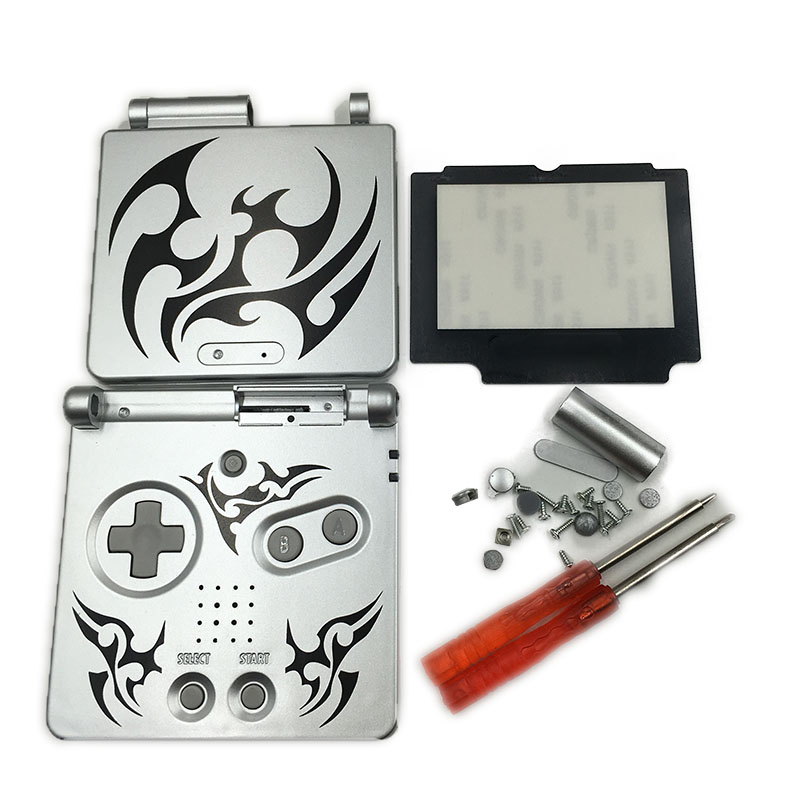 For Gameboy Advance SP Tribal Tattoo Version Housing Shell Replacement Case For GBA SP Cover