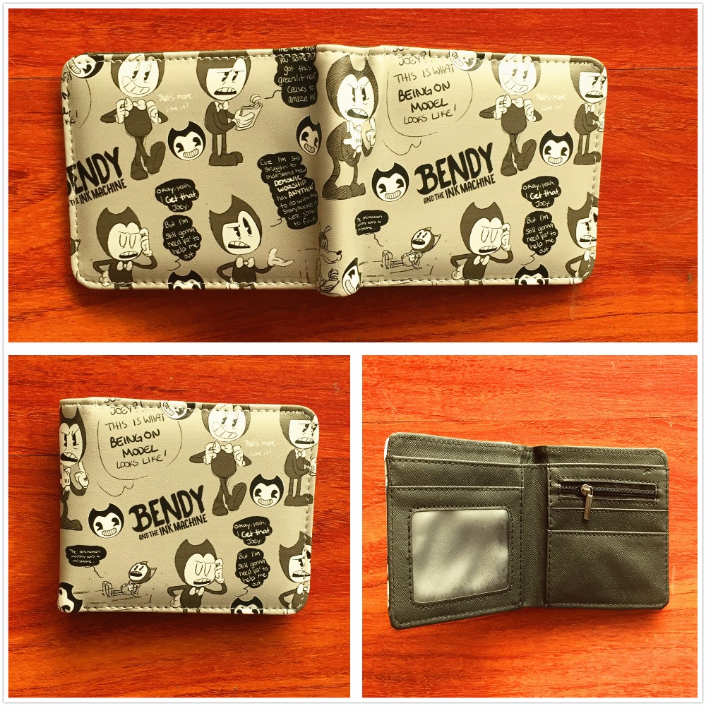 Lovely anime cartoon wallet Bendy and the Ink Machine short credit card holder wallet boys and girls universal wallet W753 lavleen kaur and narinder deep singh evaluating kissan credit card scheme in punjab india