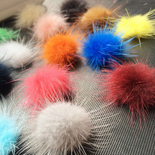 Mink Fur Ball 100PCS 30MM Fur Pompom DIY Jewelry Findings Mink Ball for shoes jewelry cloth