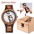 Мужские часы с логотипом на заказ  печать на фотографии  оригинальные бамбуковые деревянные часы  подарок для любителей или семьи