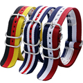 Germany/Dutch/American Flag Design Watch Band Watches Strap 20/22MM Free Shipping